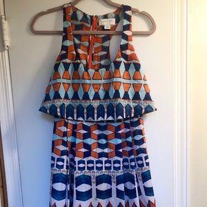 Jessica Simpson: Orange & Blue Summer Dress